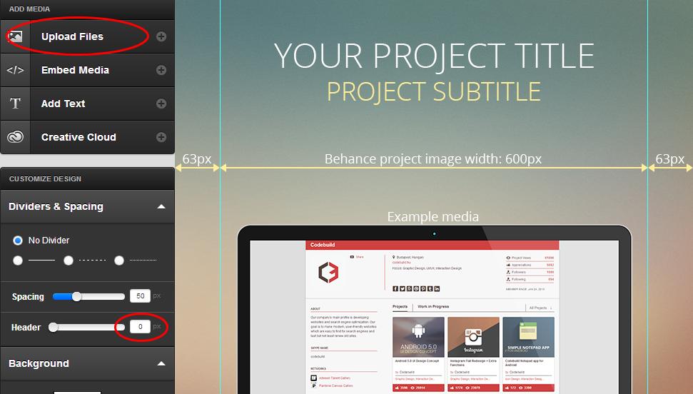 Behance projekt média
