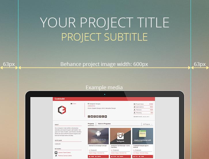 Behance projekt PSD